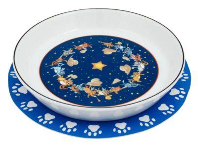 Миска для кошек синего цвета