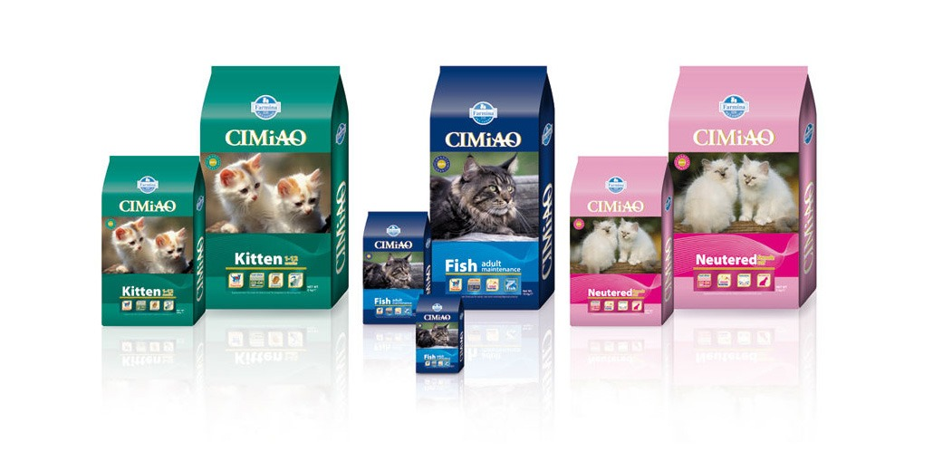 Линейка сухих кормов Cimao для кошек