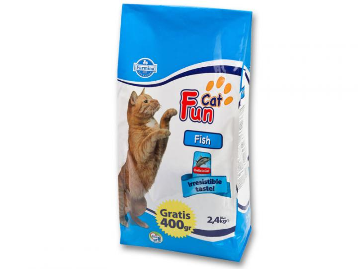 Корм эконом класса для кошек Fan Cat