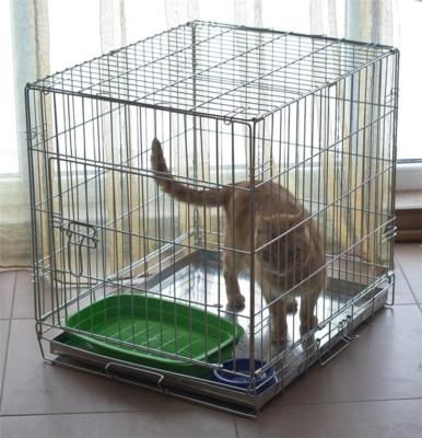 Металлическая клетка для кошек