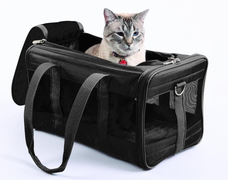 Тканевая переноска для кошки