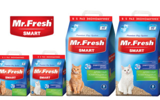 Наполнитель для кошек Mr.Fresh Smart